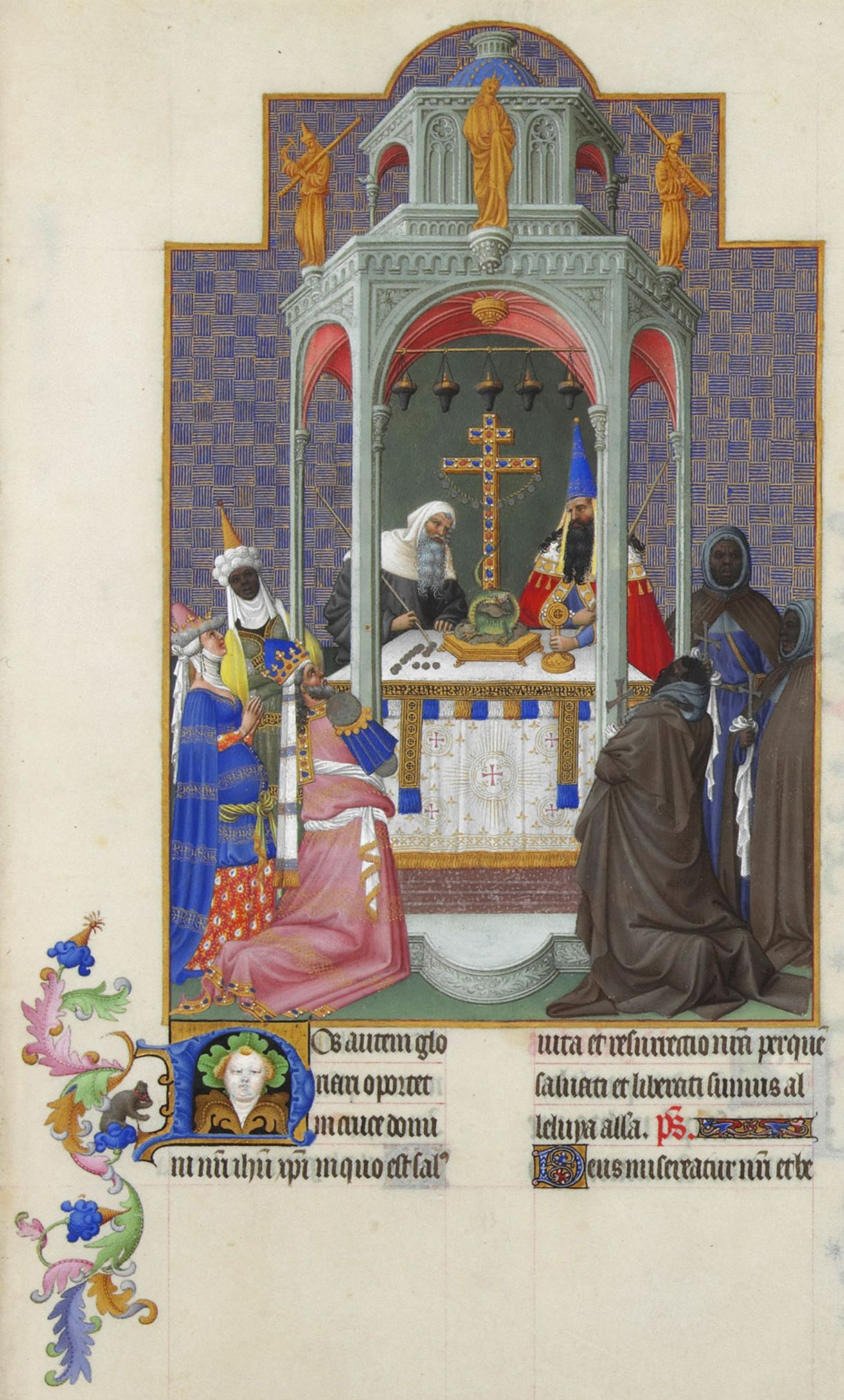 Exaltation of the Cross from the Très Riches Heures du Duc de Berry (Musée Condé, Chantilly)