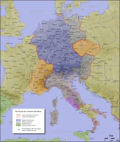 The Holy Roman Empire, about AD 1000