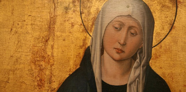 Lady of Sorrows from a triptych by the Master of the Stauffenberg Altarpiece, Alsace c. 1455