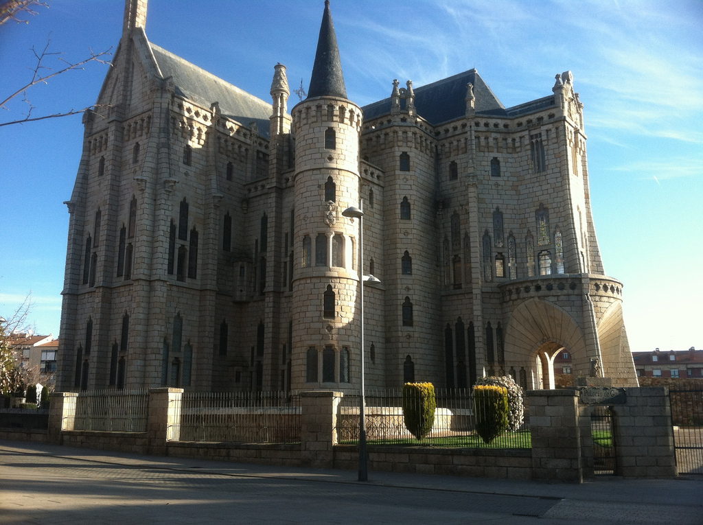 Bishop's Palace in Astorga, by Gaudi. The Bishop never moved in, and it's a Museum now.