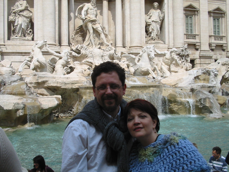 The obligatory Trevi fountain picture. I'm the doofy looking one on the left.